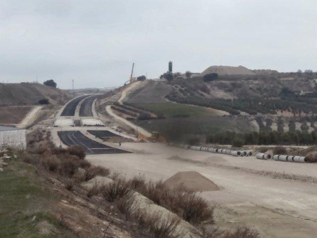Obras en la A-32 a su paso por Torreperogil