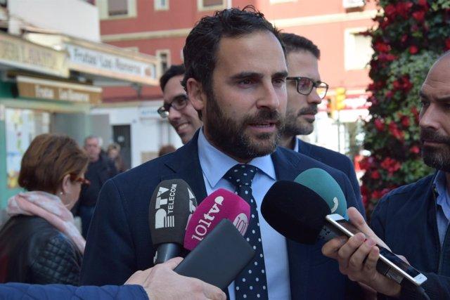 Daniel ^Pérez en rueda de prensa