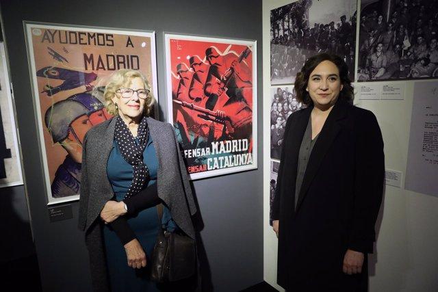 Manuela Carmena y Ada Colau en Madrid
