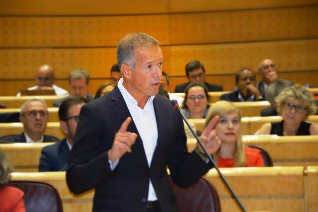 E l portavoz del PSOE en el Senado, Ander Gil