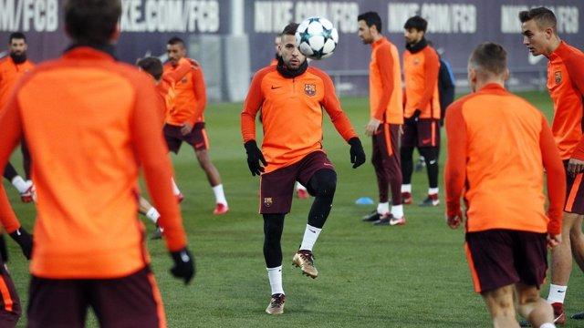 Jordi Alba entrenamiento Barcelona