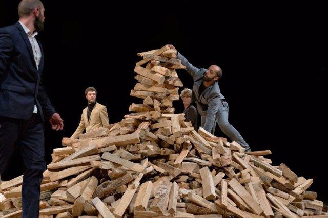 Una escena de la representación