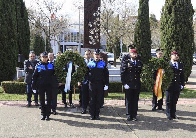 Acto en Leganés por los fallecidos el 11 de marzo de 2004