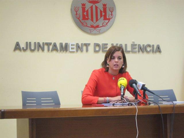 La portavoz socialista y primera teniente de alcalde, Sandra Gómez