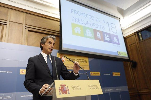 El ministro de Fomento, Íñigo de la Serna, presenta los Presupuestos de Foemento