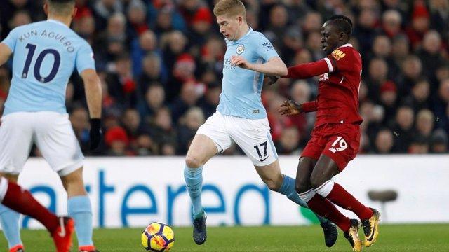 De Bruyne en el Manchester City - Liverpool