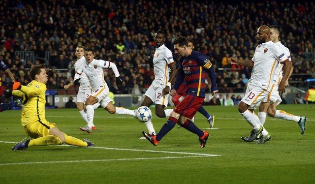 Messi, autor del Mejor gol de 2015-16 contra la Roma en Liga de Campeones