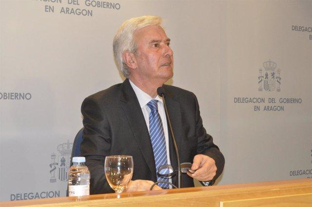 El delegado del Gobierno en Aragón, Gustavo Alcalde.