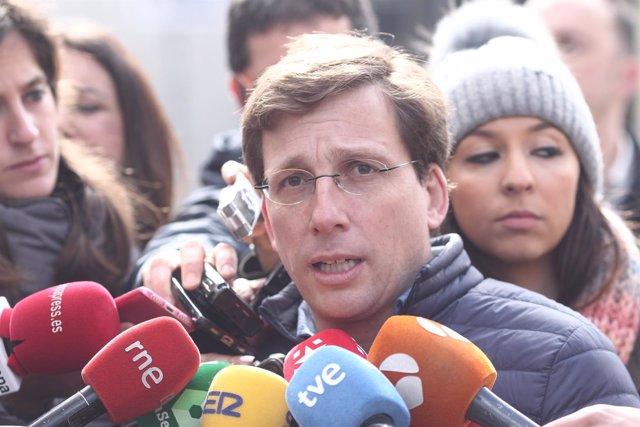 El portavoz del Grupo Municipal del PP de Madrid, José Luis Martínez-Almeida