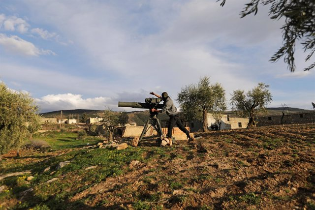 Miliciano sirio del Ejército Libre de Siria