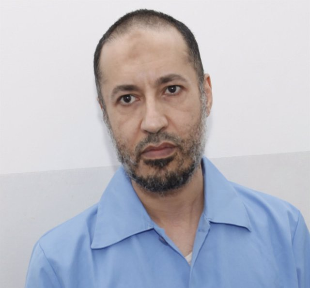 Saadi Gaddafi, son of Muammar Gaddafi, is seen inside  Al-Hadba prison in Tripol