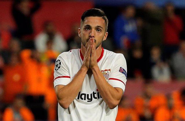 El jugador del Sevilla Pablo Sarabia