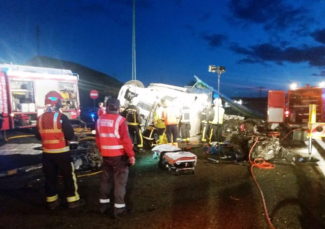 Accidente mortal en la AP-15 en Unzué