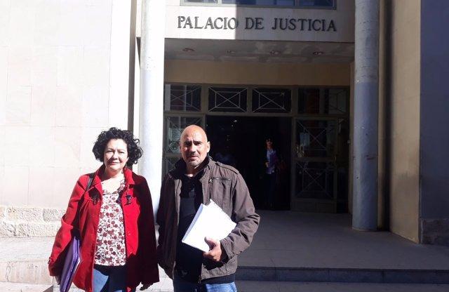 Raquel Pérez y David Rodríguez, tras prestar declaración la semana pasada
