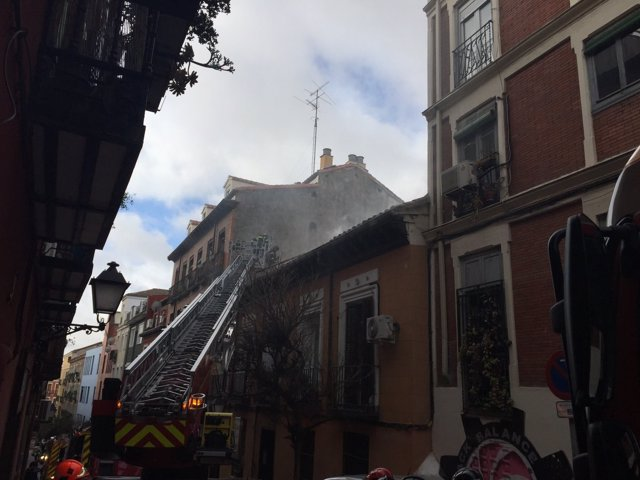 Incendio de edificio en Lavapiés