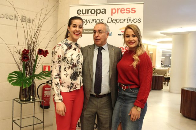 Blanco, Carolina Marín y Lydia Valentín en los Desayunos de Europa Press