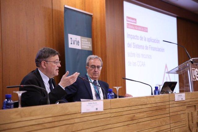 Puig interviene en el seminario sobre financiación organizado por el IVIE