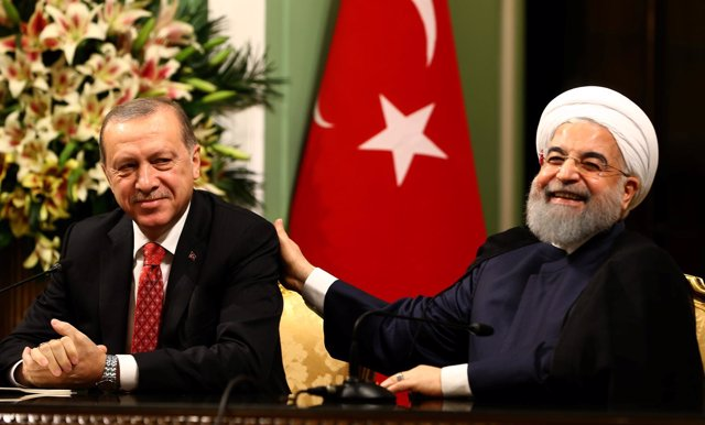 Recep Tayyip Erdogan y Hasán Rohani