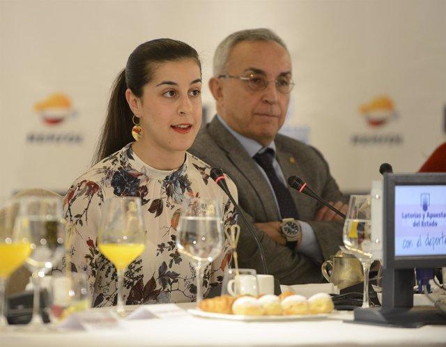 """Selección De Fotos Del Desayuno Deportivo """"Campeonas"""" Con Lydia Valentín Y Carol"""