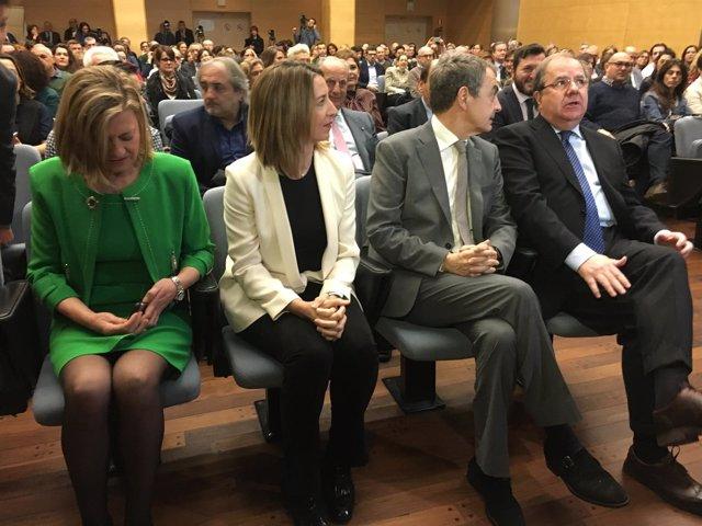 Valladolid.- Del Olmo, García, Zapatero y Herrera