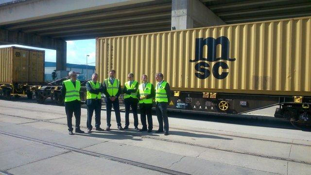 El Puerto de Sevilla estrena una conexión ferroviaria con Sines