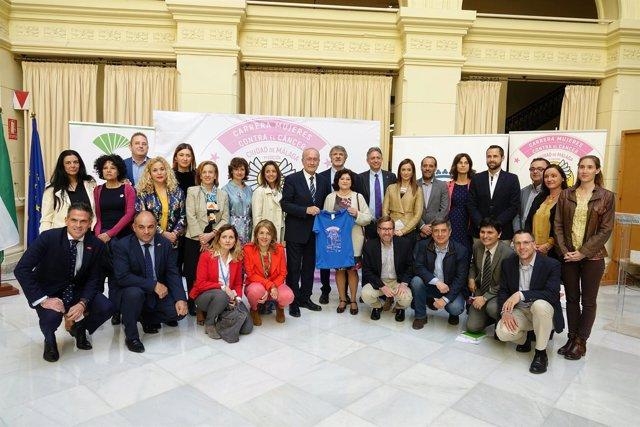 Presentación de la carrera contra el cáncer ciudad de málaga el 22 de abril