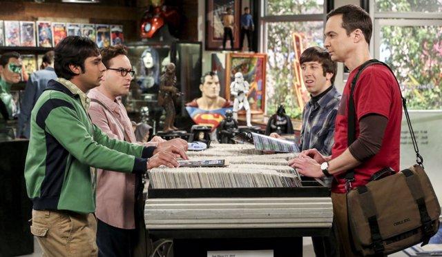 Johnny Galecki, Simon Helberg, Jim Parsons, Kunal Nayyar en The Big Bang Theory