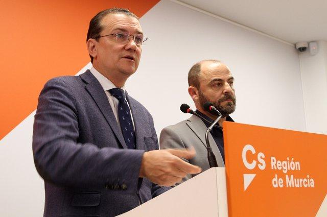 Garaulet y José Luis Martínez, diputados Cs en Congreso