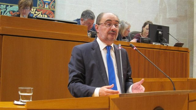 Javier Lambán, presidente del Gobierno de Aragón