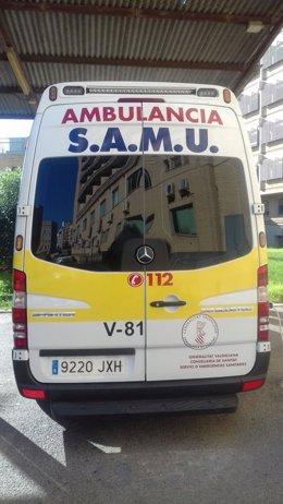 Imagen de una ambulancia del SAMU