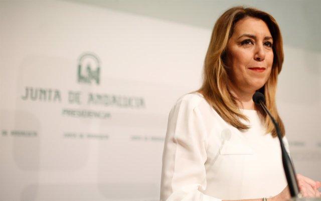Susana Díaz, presidenta de la Junta de Andalucía, en San Telmo