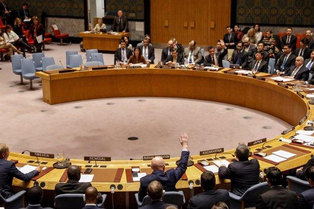 Foto de archivo de una reunión en la ONU sobre Siria.