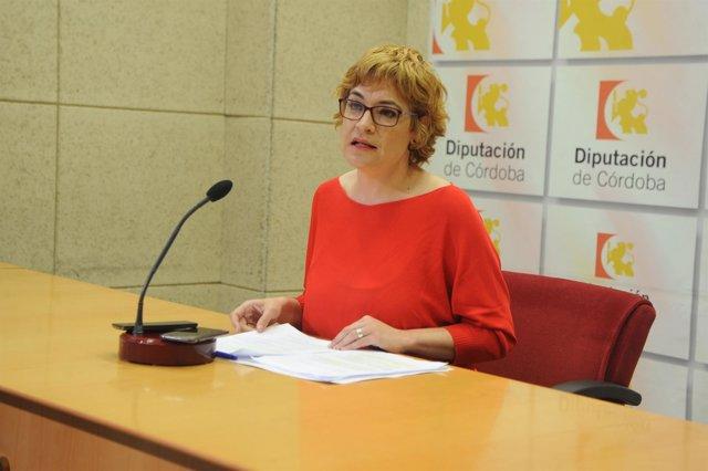 La delegada de Cultura en la Diputación de Córdoba, Marisa Ruz