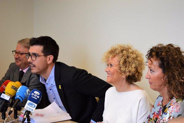 Paco Cerdá, Toni Postius, Carme Culleré y Marta Gispert (PDeCAT)