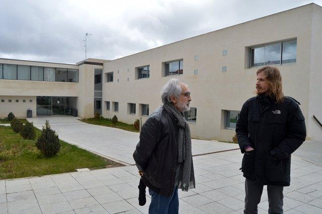 Fernández, durante su visita a Benavente.