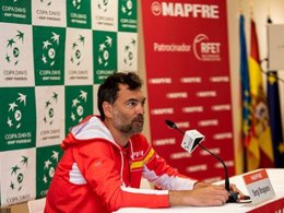 Sergi Bruguera en rueda de prensa