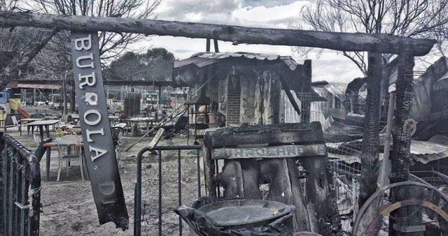 Incendio en Burrolandia