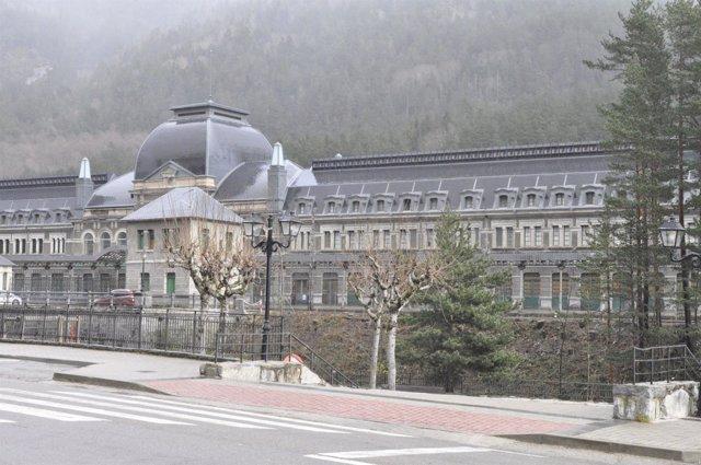 La estación internacional de Canfranc.
