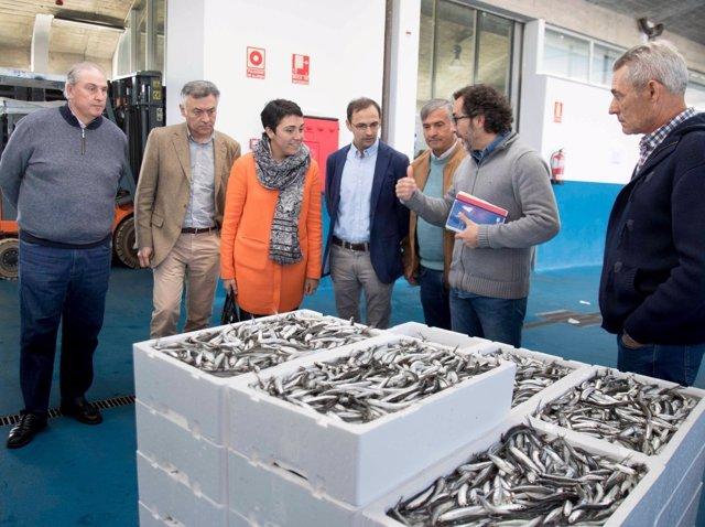 Visita de la Junta a las obras de mejora del puerto de Bonanza