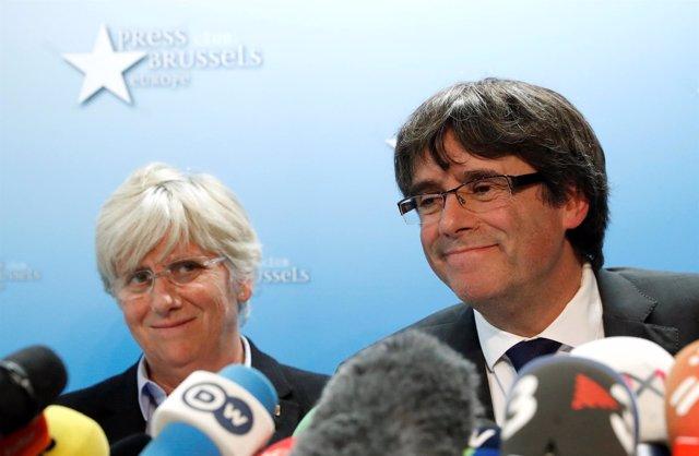 Carles Puigdemont y Clara Ponsatí en una imagen de recurso