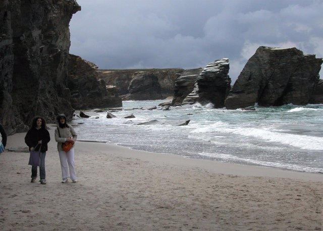 Playa de As Catedrais en Lugo