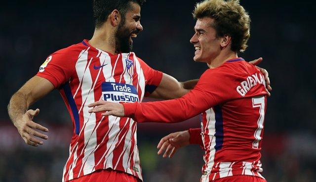Diego Costa y Griezmann (Atlético Madrid)