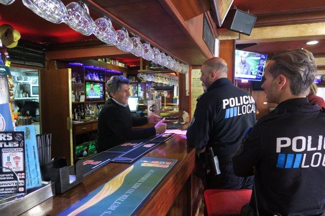 Campaña bebidas alcohólicas, policía local