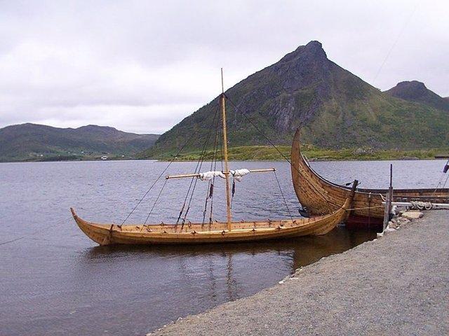 Un barco vikingo