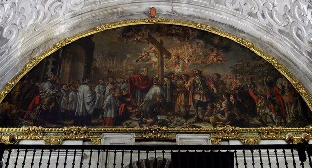 El restablo de Exaltación de la Cruz de Valdés Leal en el hospital de la Caridad