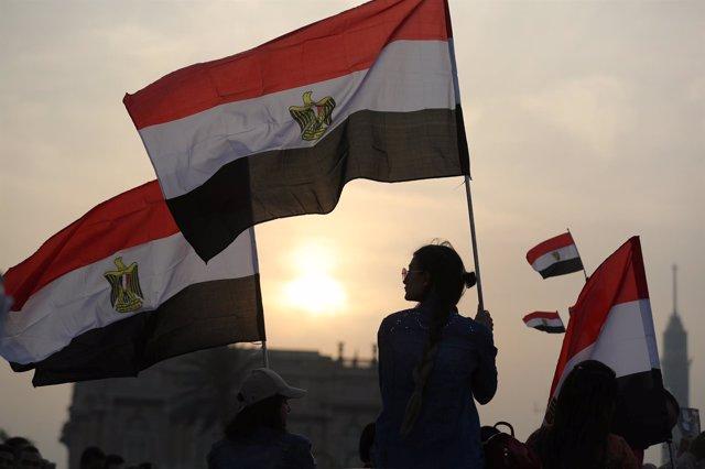Simpatizantes de Abdelfatá al Sisi en El Cairo