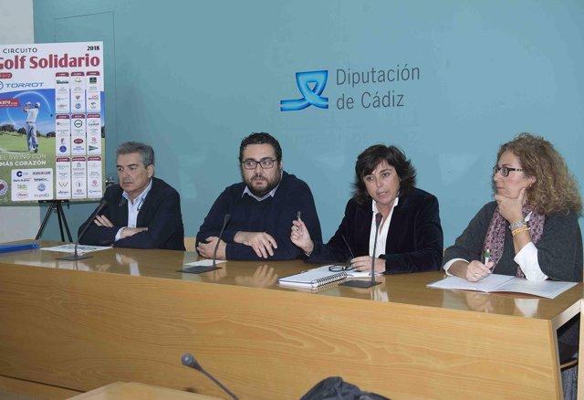Presentación circuito de golf solidario en Diputación