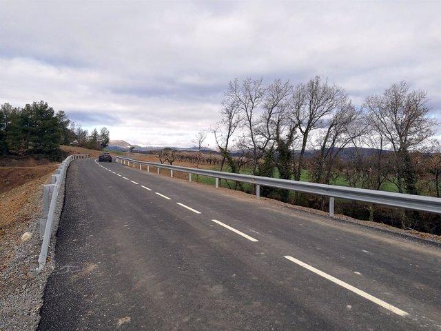 Nuevo acceso ejecutado por la DPH entre Abizanda y Aínsa-Sobrarbe