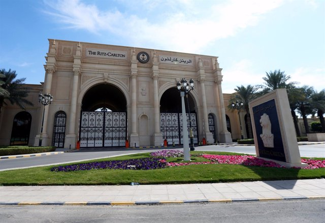 Entrada del hotel Ritz-Carlton de Riad, usada como centro de detención