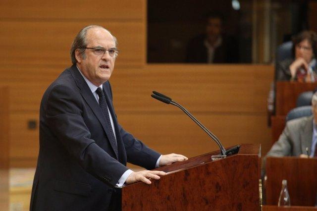 Gabilondo durante su intervención en el Pleno sobre el máster de Cifuentes
